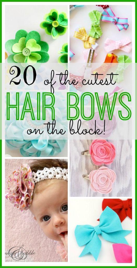 20 der SCHÖNSTEN Haarschleifen auf dem Block – Sugar Bee Crafts