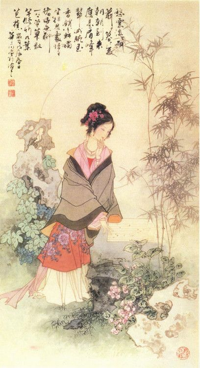 #Traditional Chinese Painting #Lady Painting #brushpainting #ink and wash painting #fineline