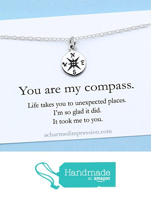 You Are My Compass X2022 I D Be Lost Without You X2022 Personalized Sterling Silver Char Sterling Silver Charm Necklace Hand Crafted Gifts Gifts For Wife