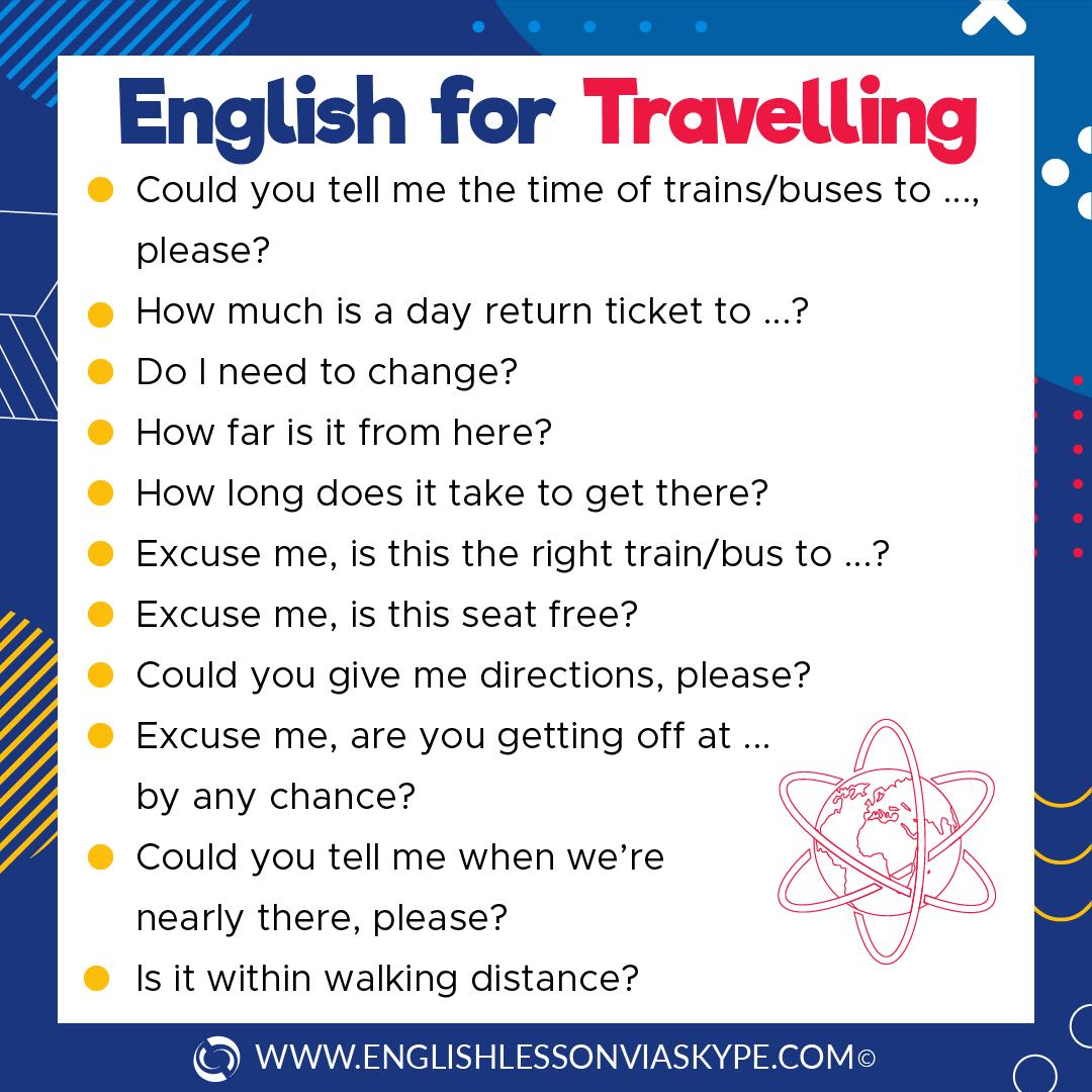 Intermediate English Travel Vocabulary