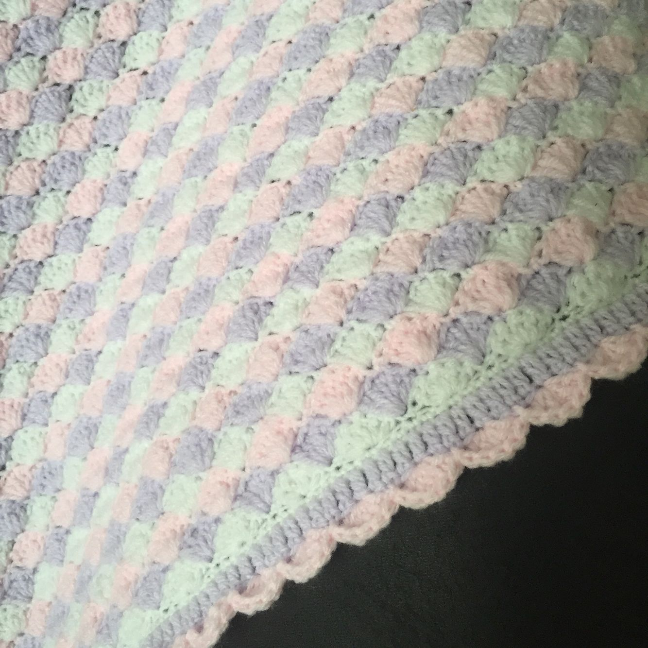 Shell stitchfan stitch crochet baby blanket scallop edging stitch bankloansurffo Images