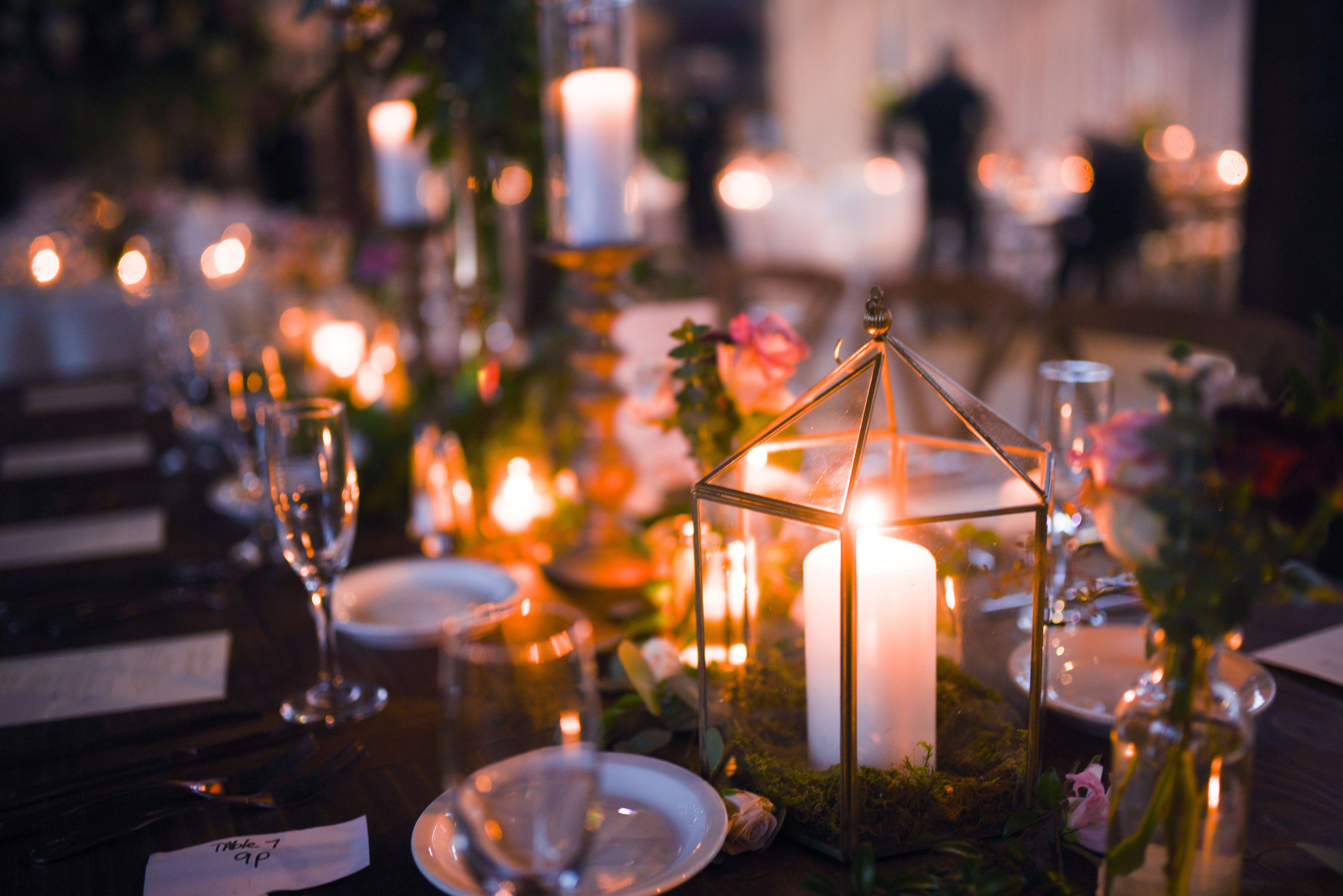Candelabras Lanterns Pillar Candles And Lots Of Gorgeous Blooms Tall Centerpieces Chalice Centerpieces Hanging C Pillar Candles Tall Centerpieces Lanterns