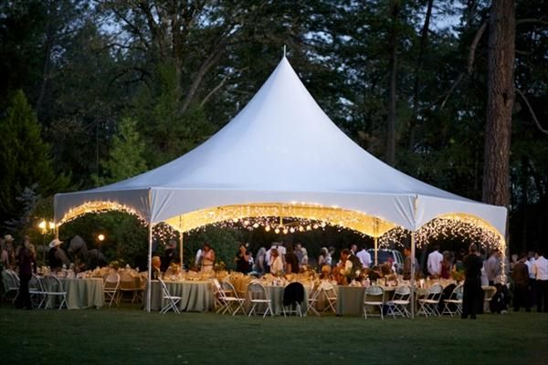 Hexagon tent | White tent wedding, Vintage shabby chic wedding ...