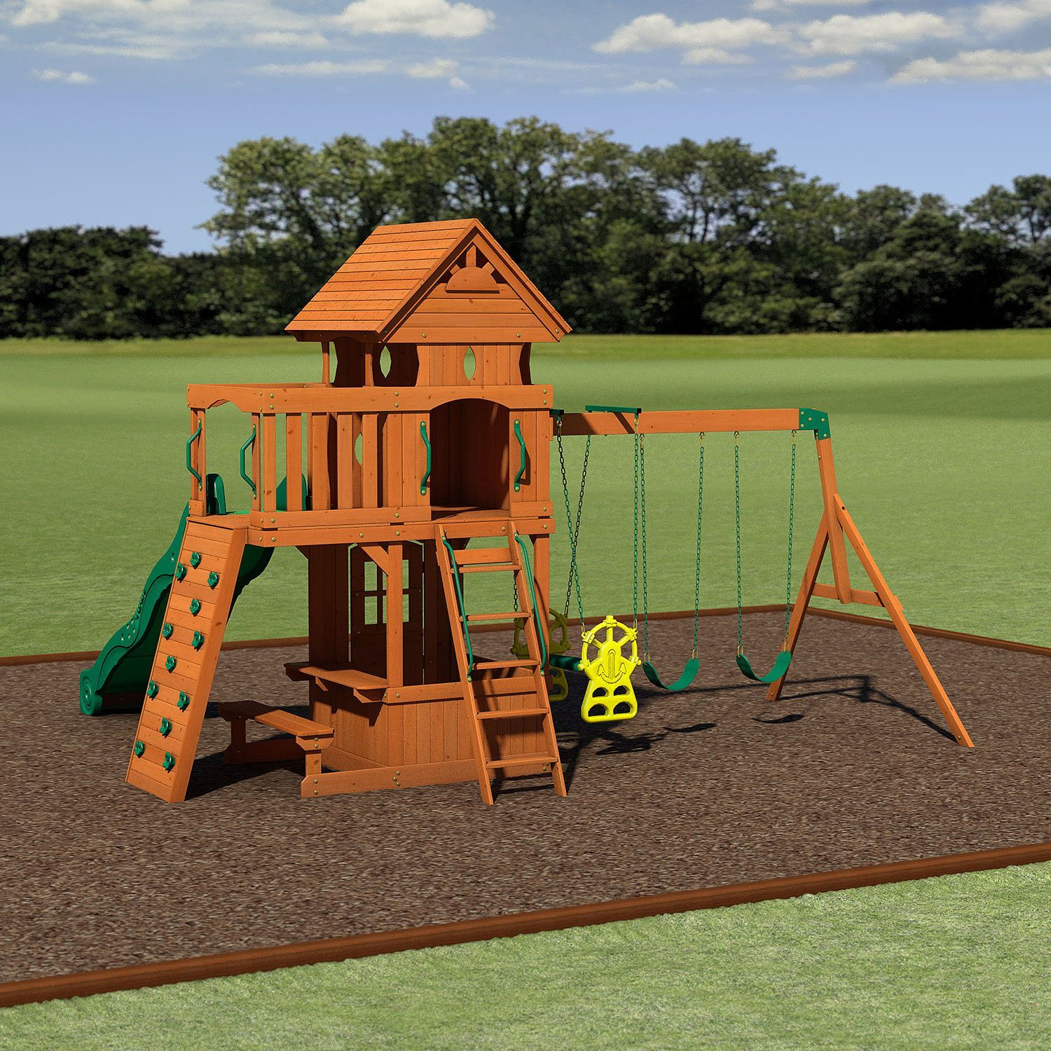 Backyard Discovery Monterey Cedar Swing Play Set Noah Pinterest