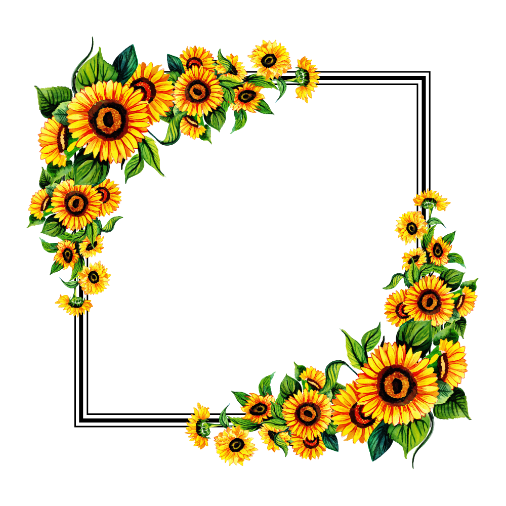 Konfest Creator's Space Free png, Floral, Sunflower