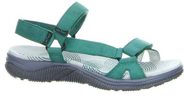 Legero 00786 Womens Velcro Strap Nubuck Leather Sandal