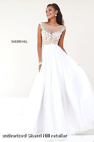 Sherri Hill Style 11151 IN STOCK NOW Silver/Nude Size 14 $450 ...