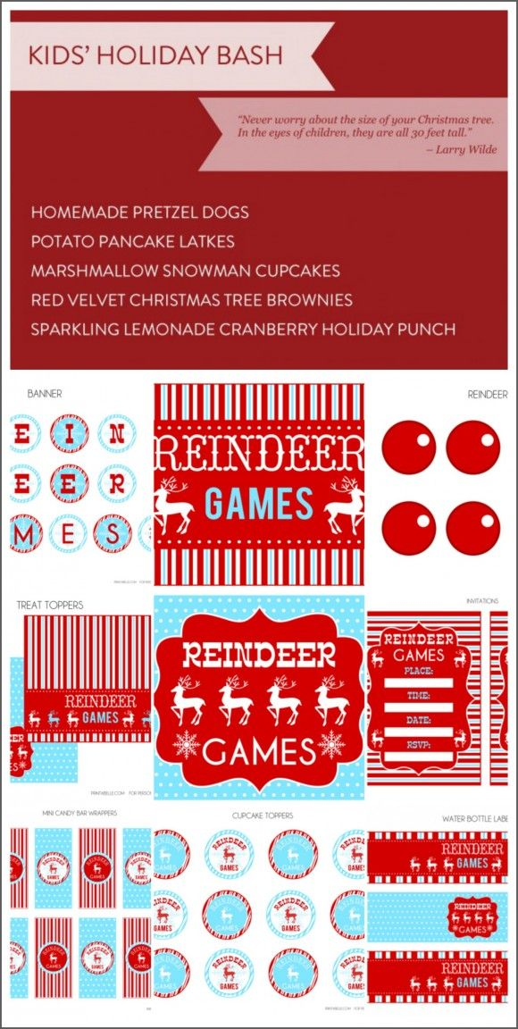 kids holiday bash recipes free printables weve got everything youll