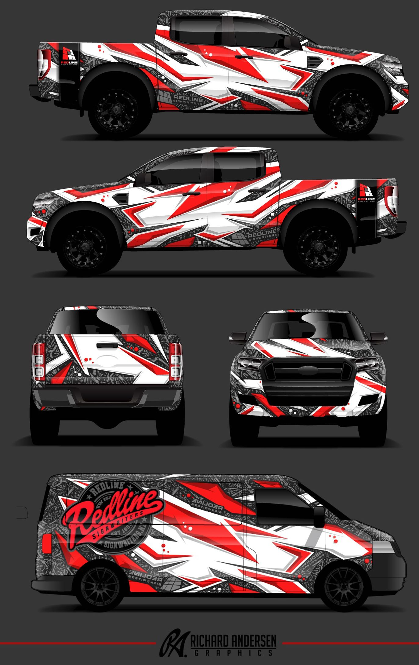 Toyota calcas vehicle signage car paint jobs van wrap truck design ford