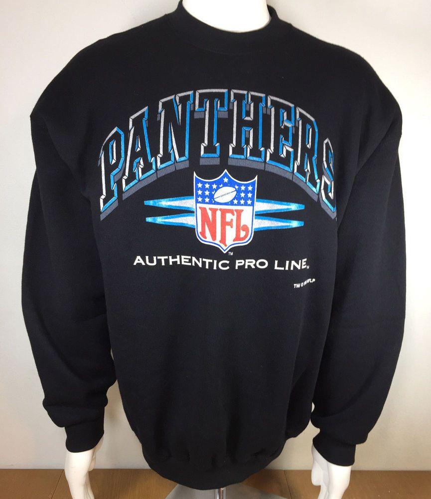 promo code df589 65977 Carolina Panthers NFL Football Sweatshirt Mens Adult Size XL ...