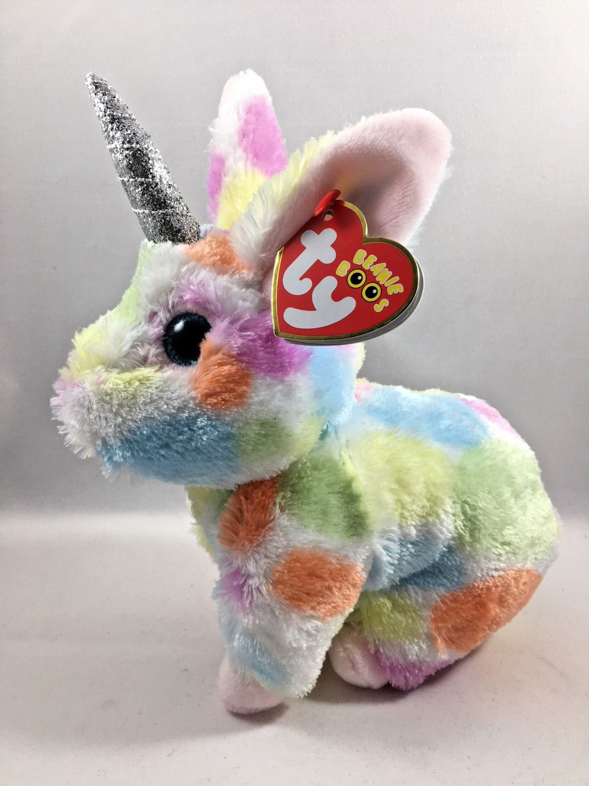 6 Inch NEW MWMT Ty Beanie Babies ~ LOLA the Tie Dyed Llama