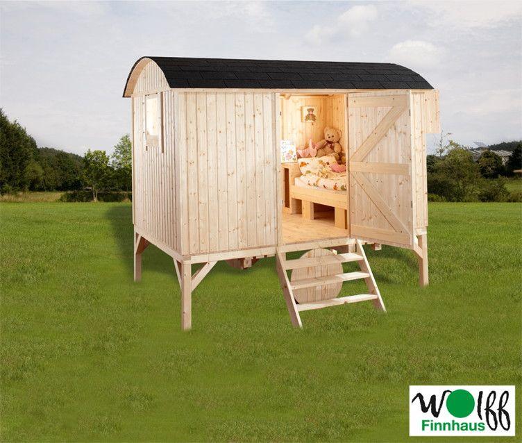 kinderspielhaus wolff camping bauwagen holz stelzen gartenhaus gartenspielhaus garten. Black Bedroom Furniture Sets. Home Design Ideas