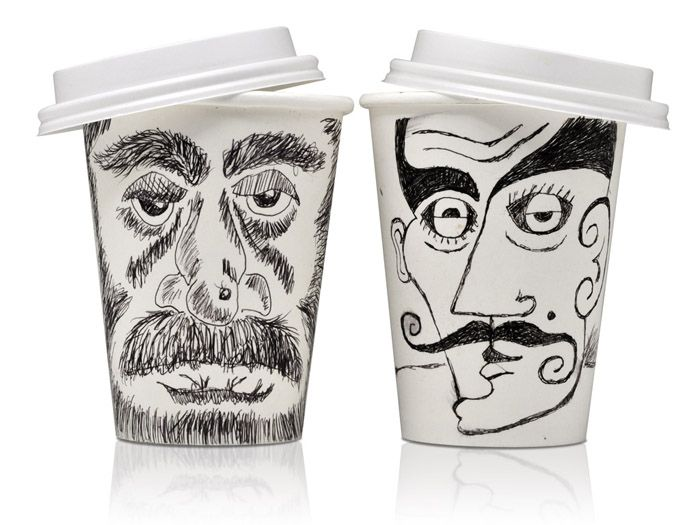 #coffee #cup #face #art