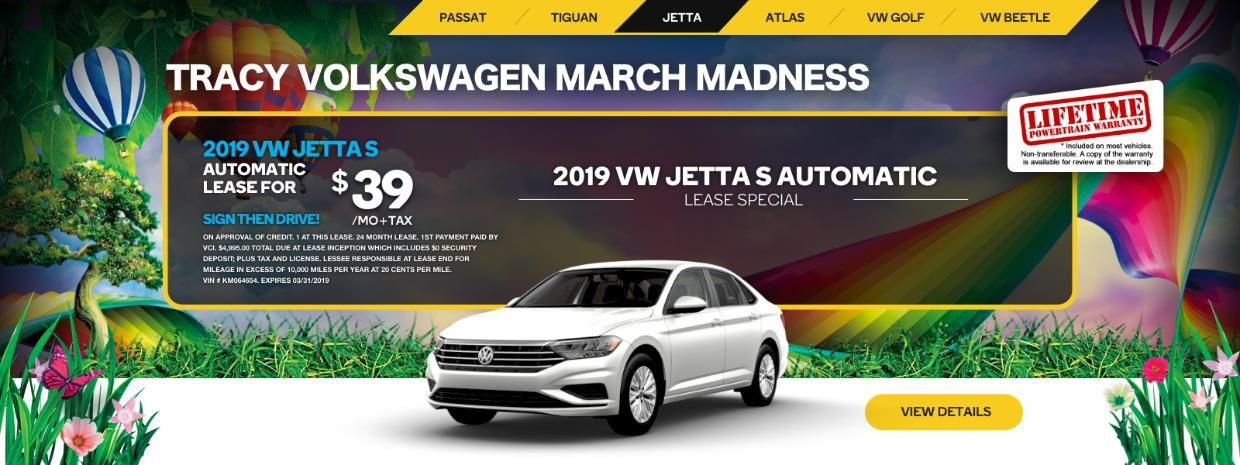 Tracy Volkswagen END OF MARCH SALE 39 a Month for a NEW