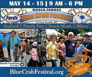 Join us at the World Famous Blue Crab Festival presented by @fordsfuelandpropane  this weekend (May 14 & 15) on the Historic Little River Waterfront. #LittleRiverSC #LRBlueCrab #Seafood #FamliyFun #BeachMusic #BikersWelcome #DiscoverSC http://ift.tt/25F1AsZ