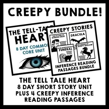 Creepy Bundle {Tell Tale Heart Short Story Unit + 4