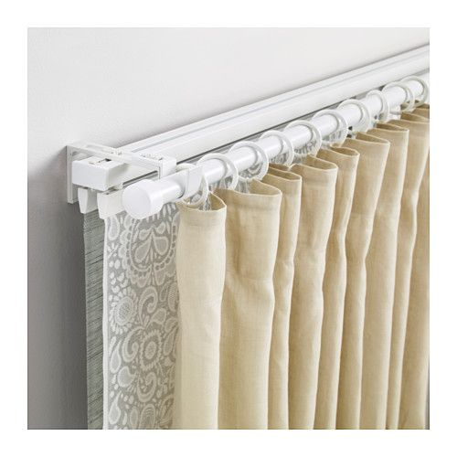 Vidga Triple Track And Rod Set White Curtains Curtain Track
