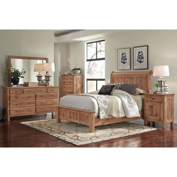 The Lewiston Bedroom Collection Adds Style And Warmth To Any Bedroom With Its Aged Heirloom L King Bedroom Sets Bedroom Sets Queen Bedroom Sets Furniture King
