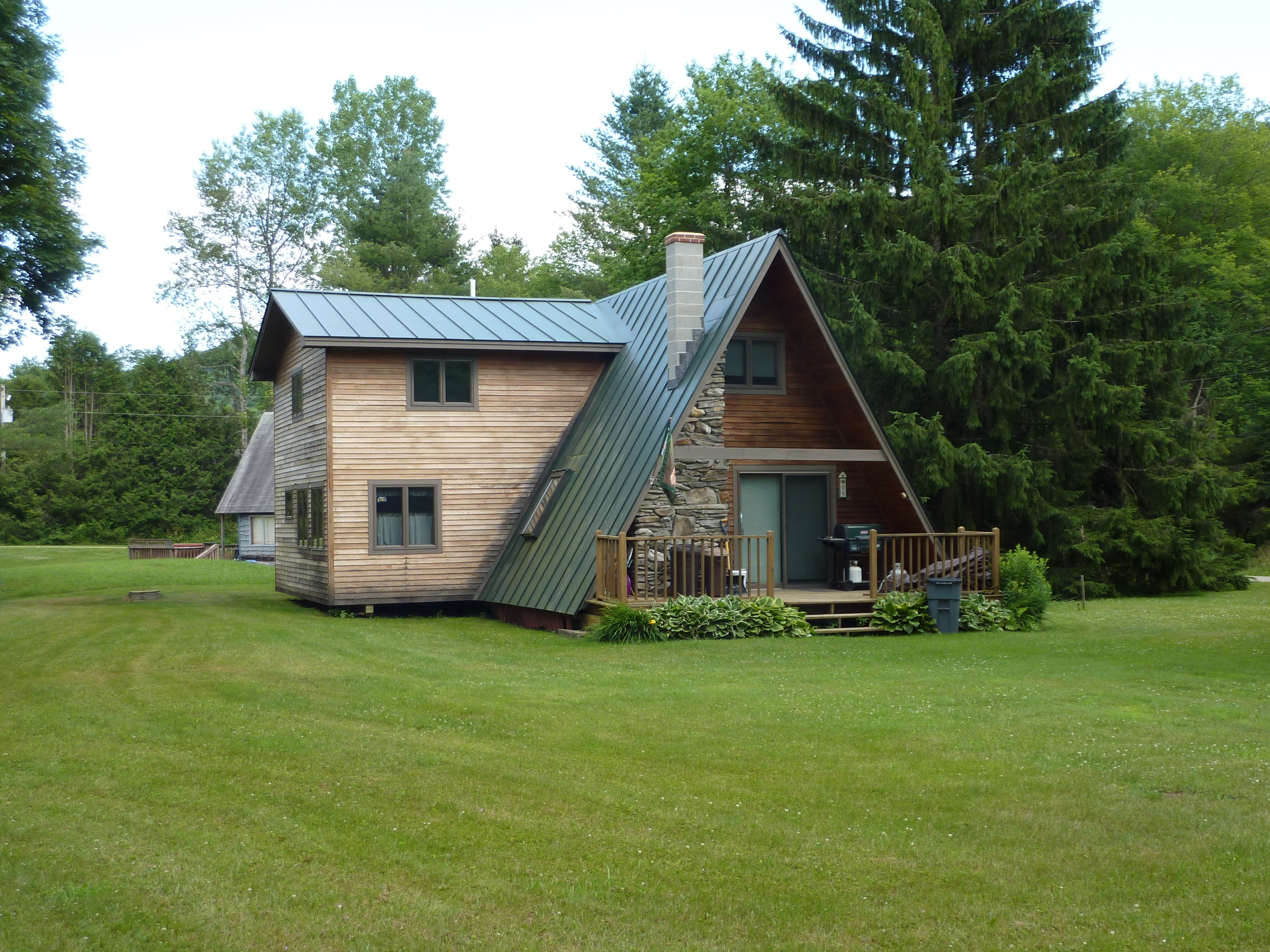 aframe with shed roof addition architecture pinterest cabin vermont a frame