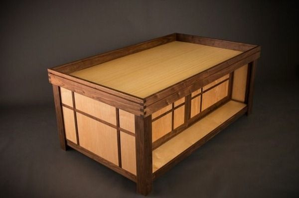Designer game table Extra storage space
