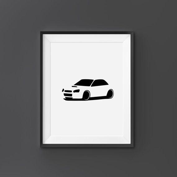 Subaru WRX Subaru Wall Art Subaru Print Subaru by CompassionPrints & Subaru WRX Subaru Wall Art Subaru Print Subaru by CompassionPrints ...