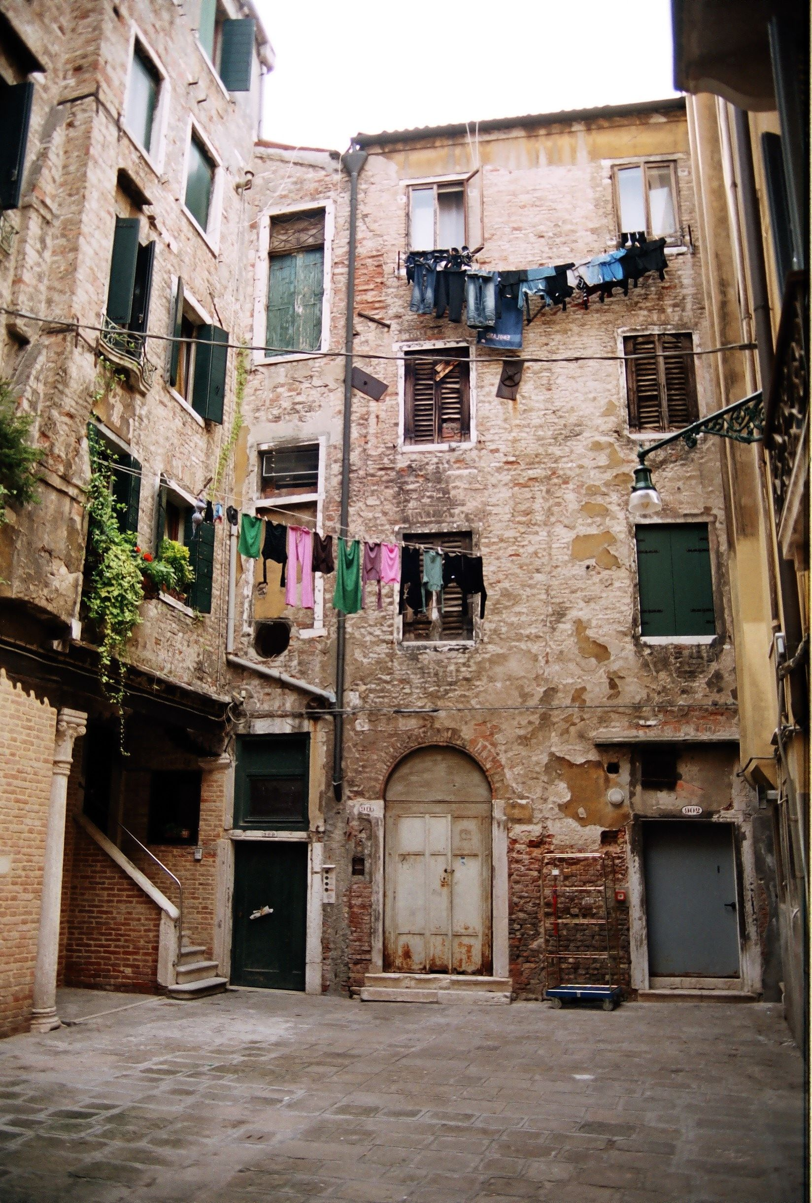 Hinterhof In Venedig Venedig La Serenissima