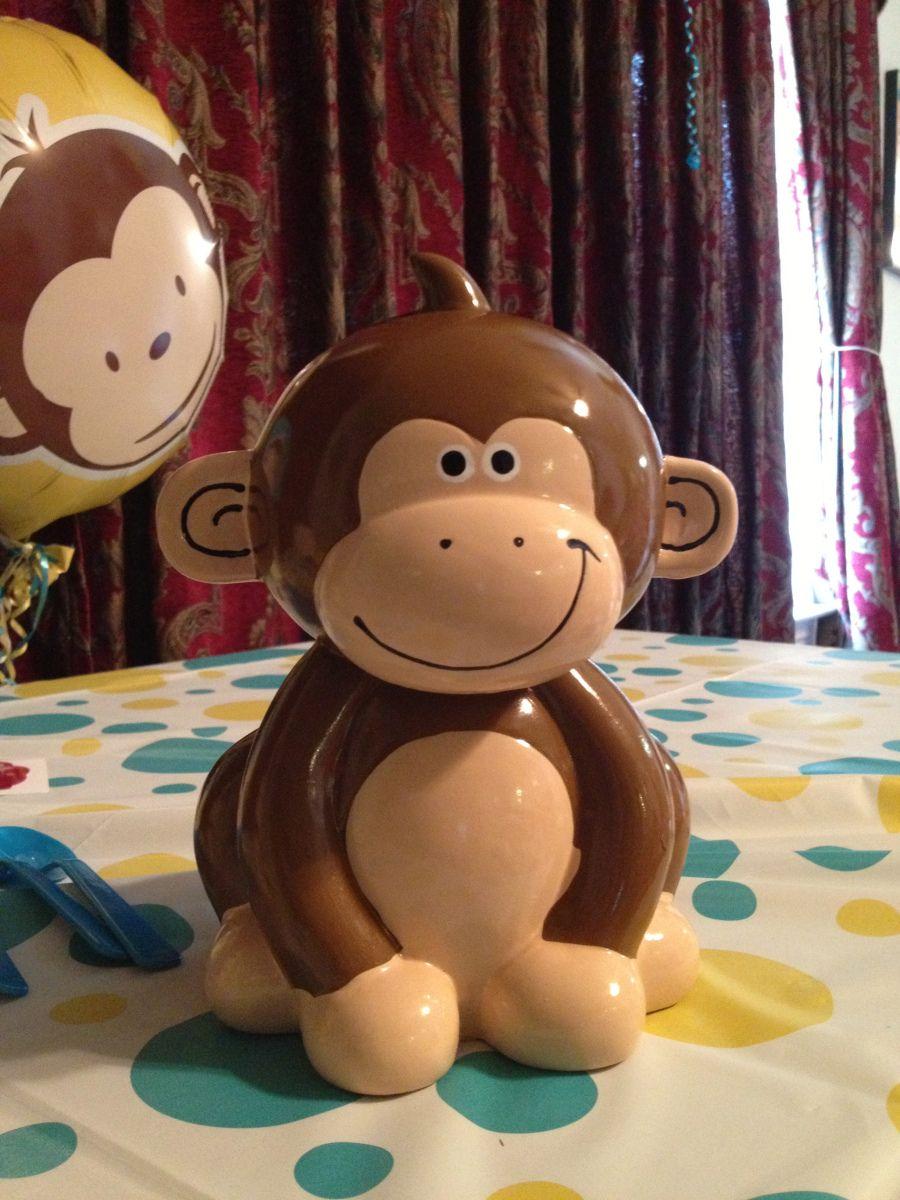 Monkey piggy bank! Monkey, Piggy bank, Nursery decor