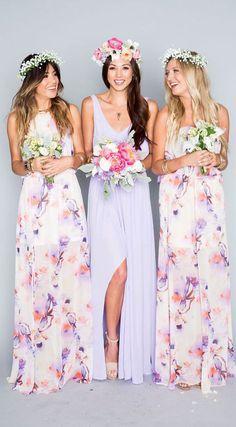 906de4a25015 Gorgeous floral prints for your #bridesmaids #weddingdress #weddinggown  #bridesmaiddress