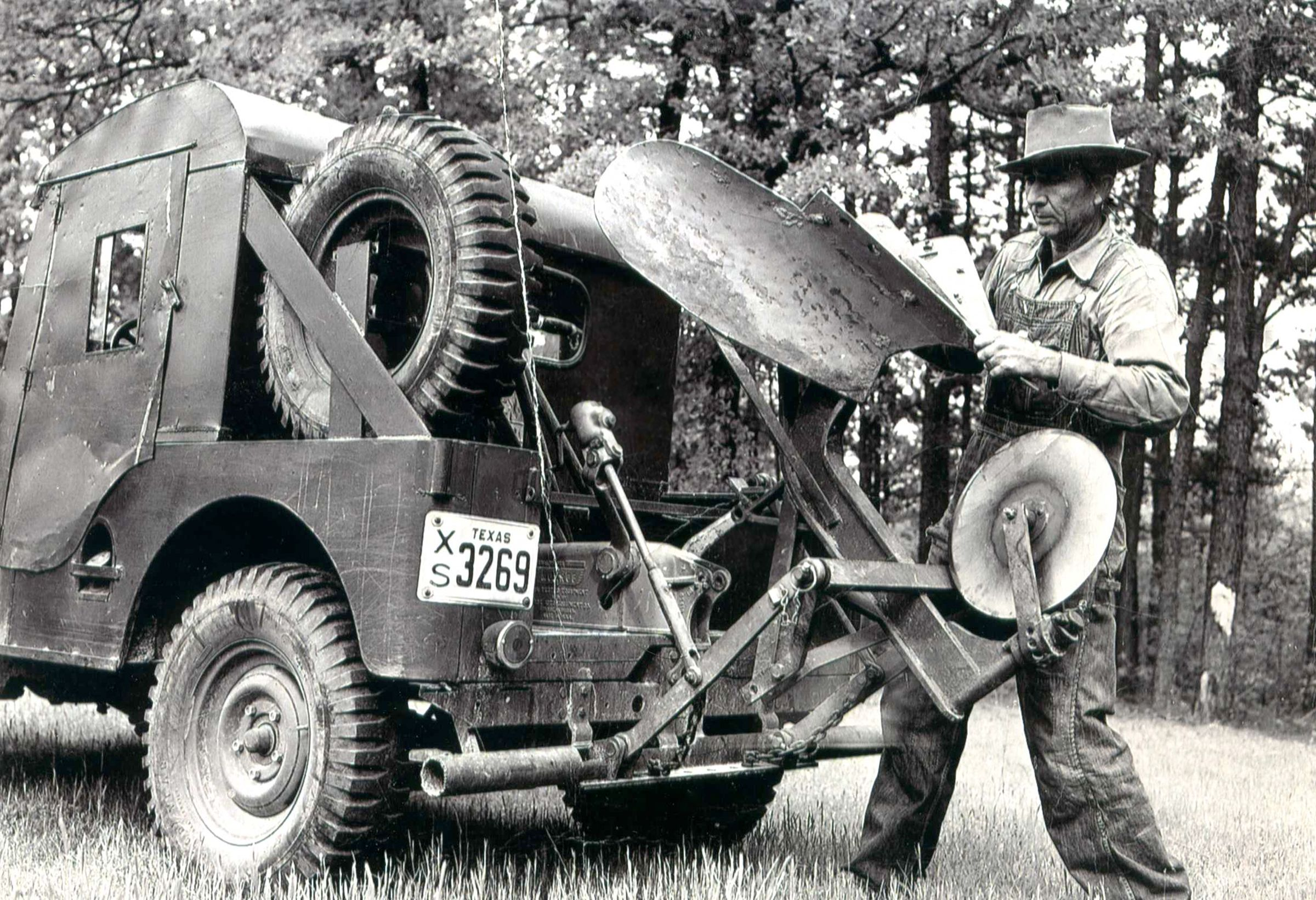 A Firefighting Jeep With Plow Used By The Texas A M Forest Service
