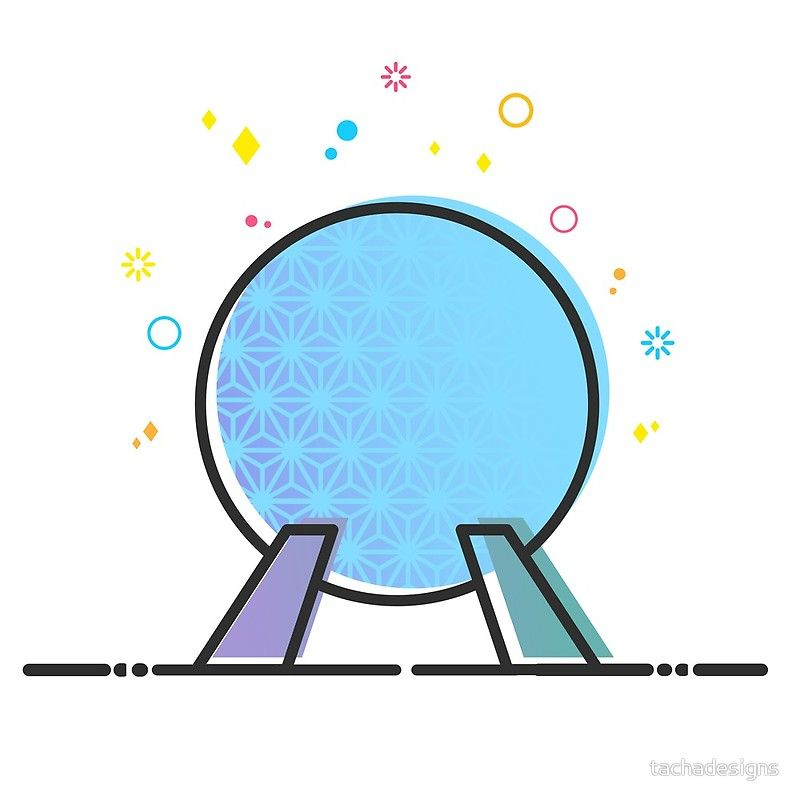 Spaceship Earth Epcot Ride Vector Illustration Cute Design ...