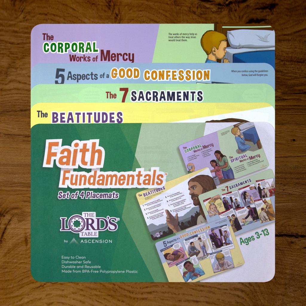 Faith Fundamentals Placemats Set Of 4