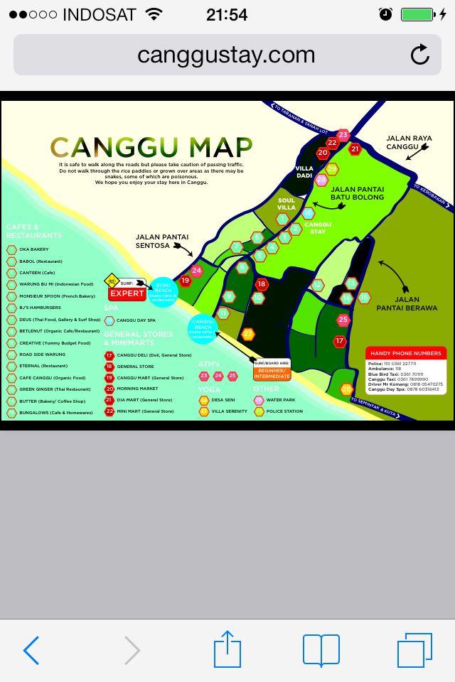 Bali Karte Canggu.Canggu Bali Map Path Map