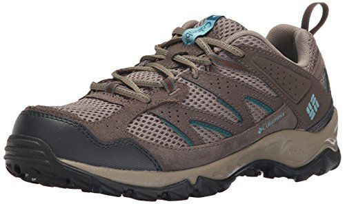 Columbia Women's Plains Ridge Wmns Trail Shoe, Pebble/Aqua, 5 B US *** To view further for this item, visit the image link.