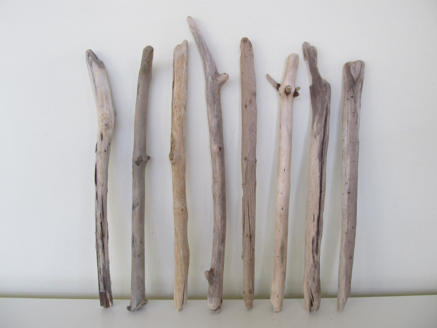 8 Straight & Slender Driftwood Sticks For Crafting Woven Wall Hanging Drift Wood Branches Wind Chime Driftwood Boho Decor by LonelyBeach on Etsy