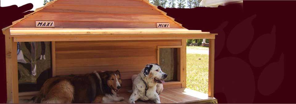 Custom Large Dog Cat Houses Cedar Wooden Insulated Dog House
