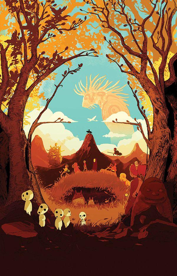 Miyazaki: The end of an era by Shotopop, via Behance