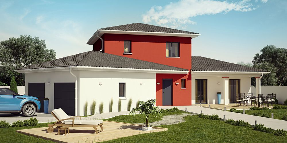 Tikehau moderne tuiles noires construction villa for Tuile moderne