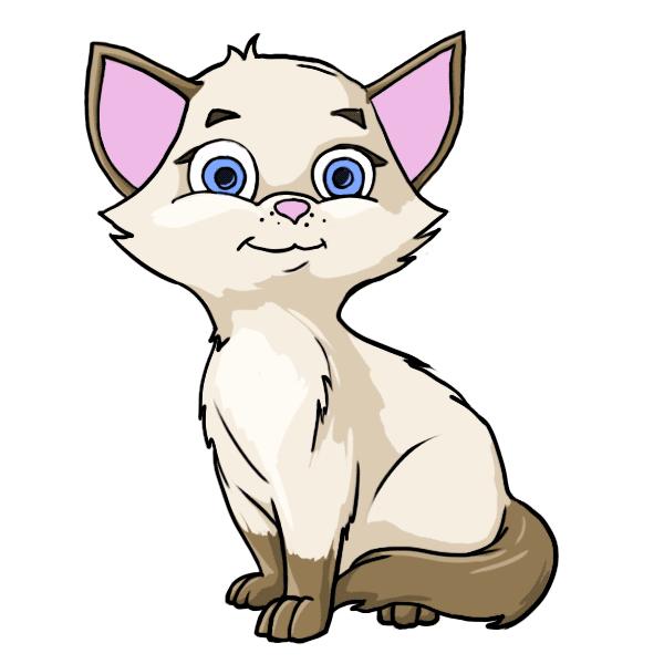 Cute Cat Royalty Free Vector Image Vectorstock Cat Clipart Cat Vector Cartoon Cat