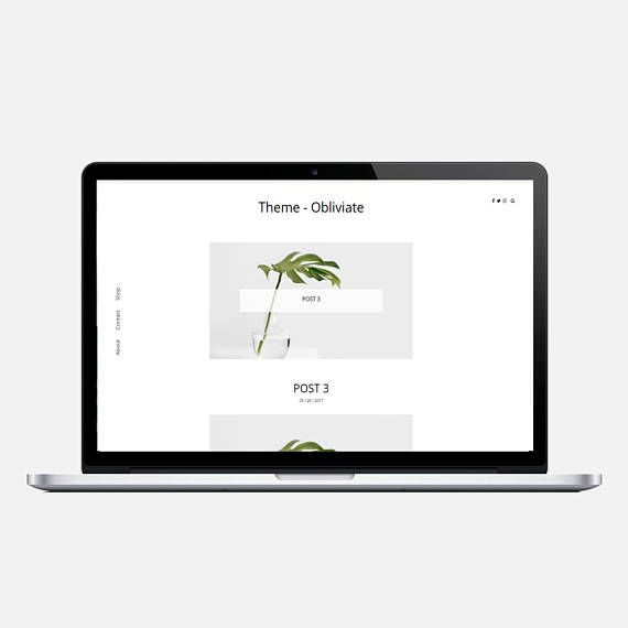 OBLIVIATE - Responsive Wordpress Theme - Responsive Blogger Template ...