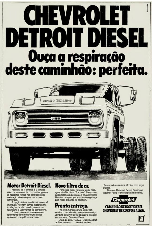 1972 Chevrolet Detroit Diesel Truck Brasil Caminhoes Chevrolet Carros E Caminhoes Caminhoes Classicos