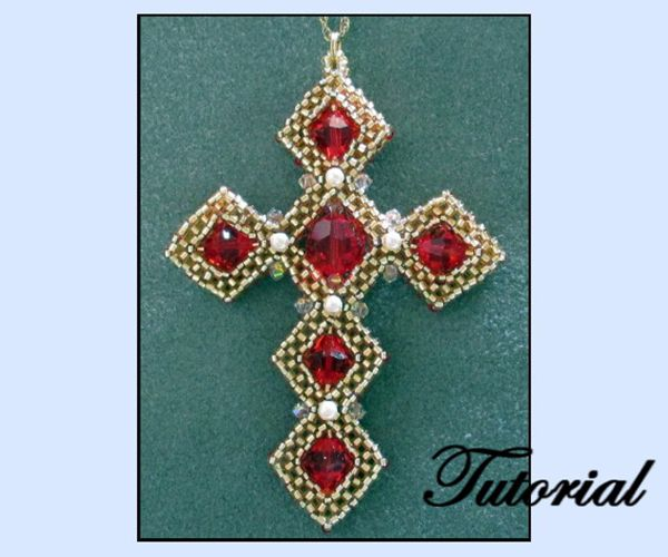 Craw beaded cross pendant pattern bead patterns joyera y craw beaded cross pendant pattern bead patterns aloadofball Choice Image