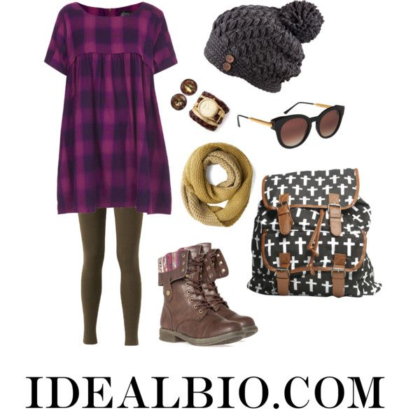 """""""Purple Pastime - Apple Body Shape Outfit"""" by idealbio on Polyvore"""