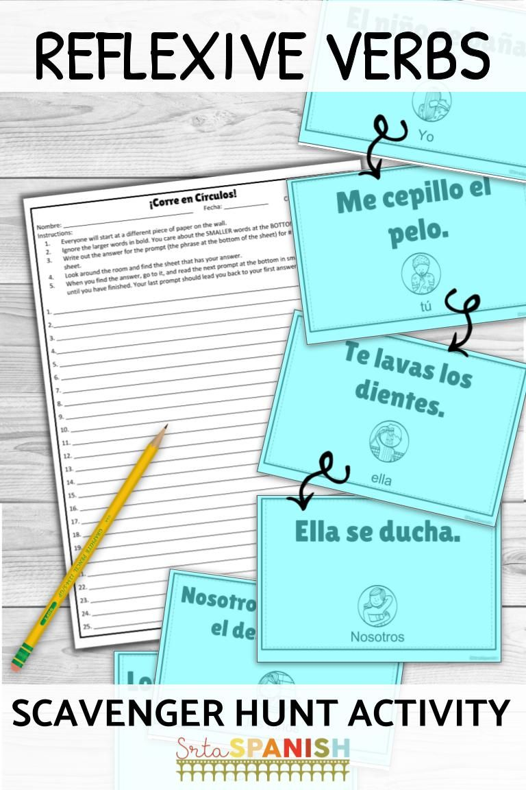 Need Something Fun For Daily Routines And Reflexive Verbs Check Out This Scavenger Hunt Ga Spanish Students Spanish Lesson Plans High School Spanish Classroom [ 1152 x 768 Pixel ]
