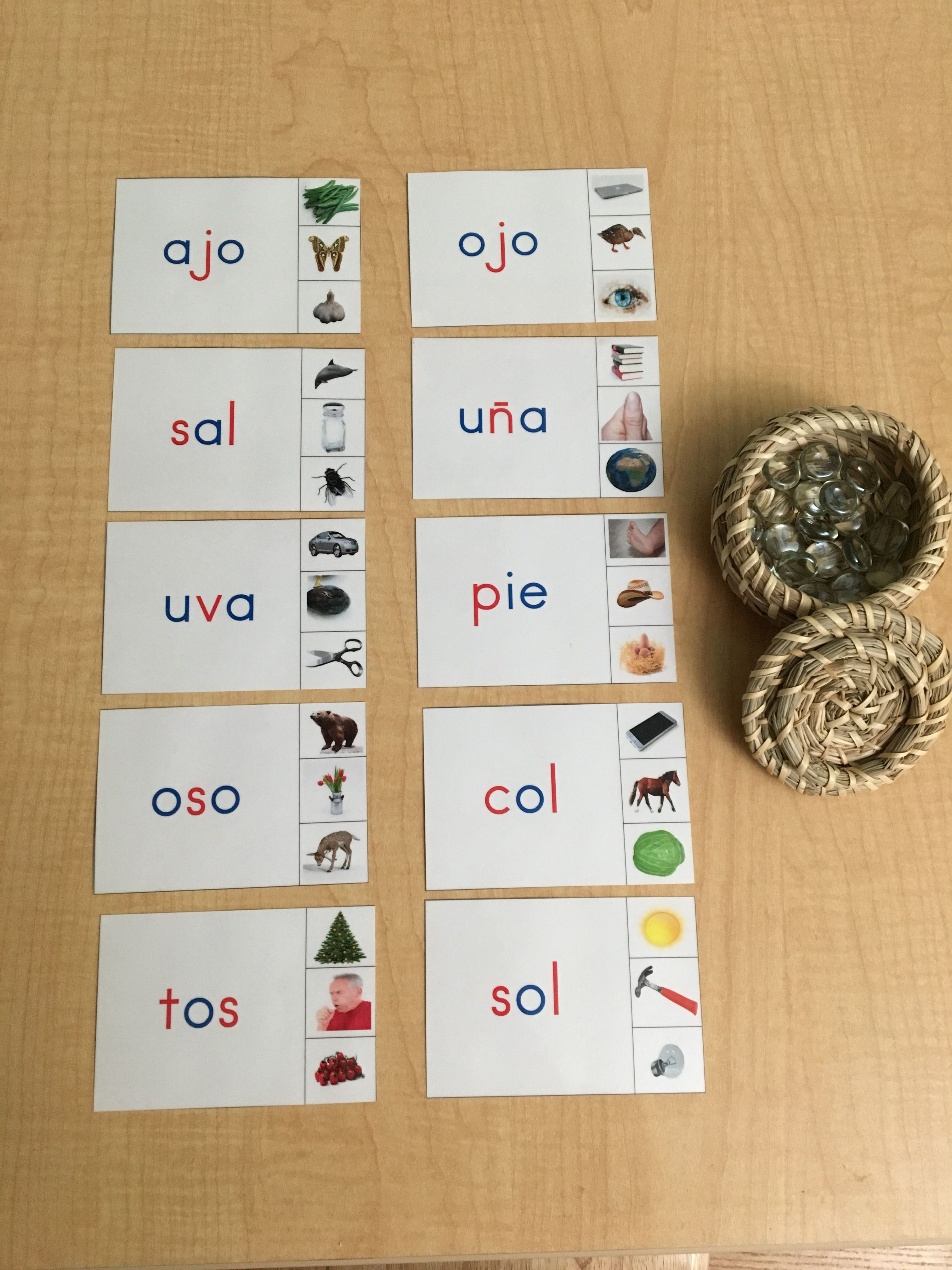 Montessori Inspired Language Activity Made Three Letter Word Cards For My Daughter To Sound Out Each Letter Three Letter Words Language Activities Word Cards [ 4032 x 3024 Pixel ]
