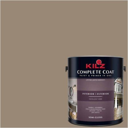 Kilz Complete Coat Interior/Exterior Paint & Primer in One, #LL150 Sleeping Cabin, Brown