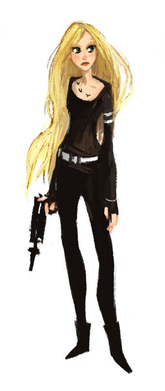 Fan art illustrated by Simini Blocker of Tris from DIVERGENT by Veronica Roth.