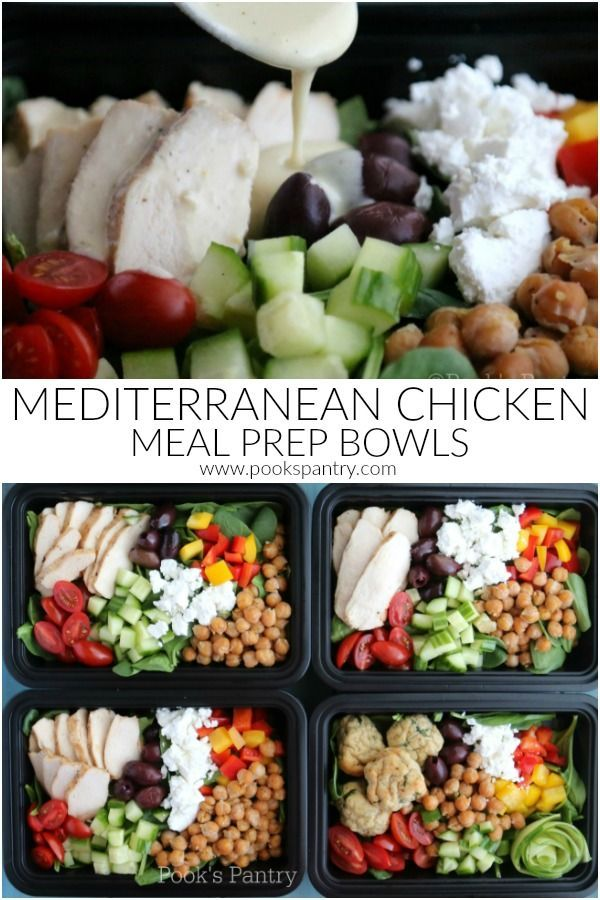 Photo of Mediterranean Chicken Meal Prep Bowls with Tahini Dressing