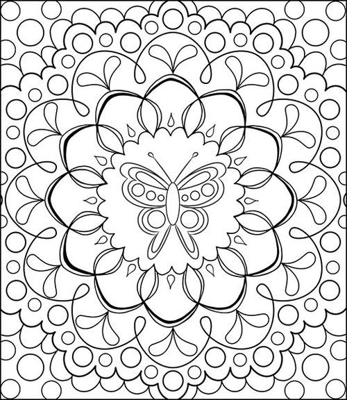Free Coloring Calendar Butterfly Mandala Page by Thaneeya ...