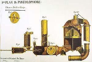 Diagram of the first internal combustion engine,the Pyreolophore, of 1806  which was powered by a mixture of coal dus… | Combustion engine,  Engineering, Engine typesPinterest