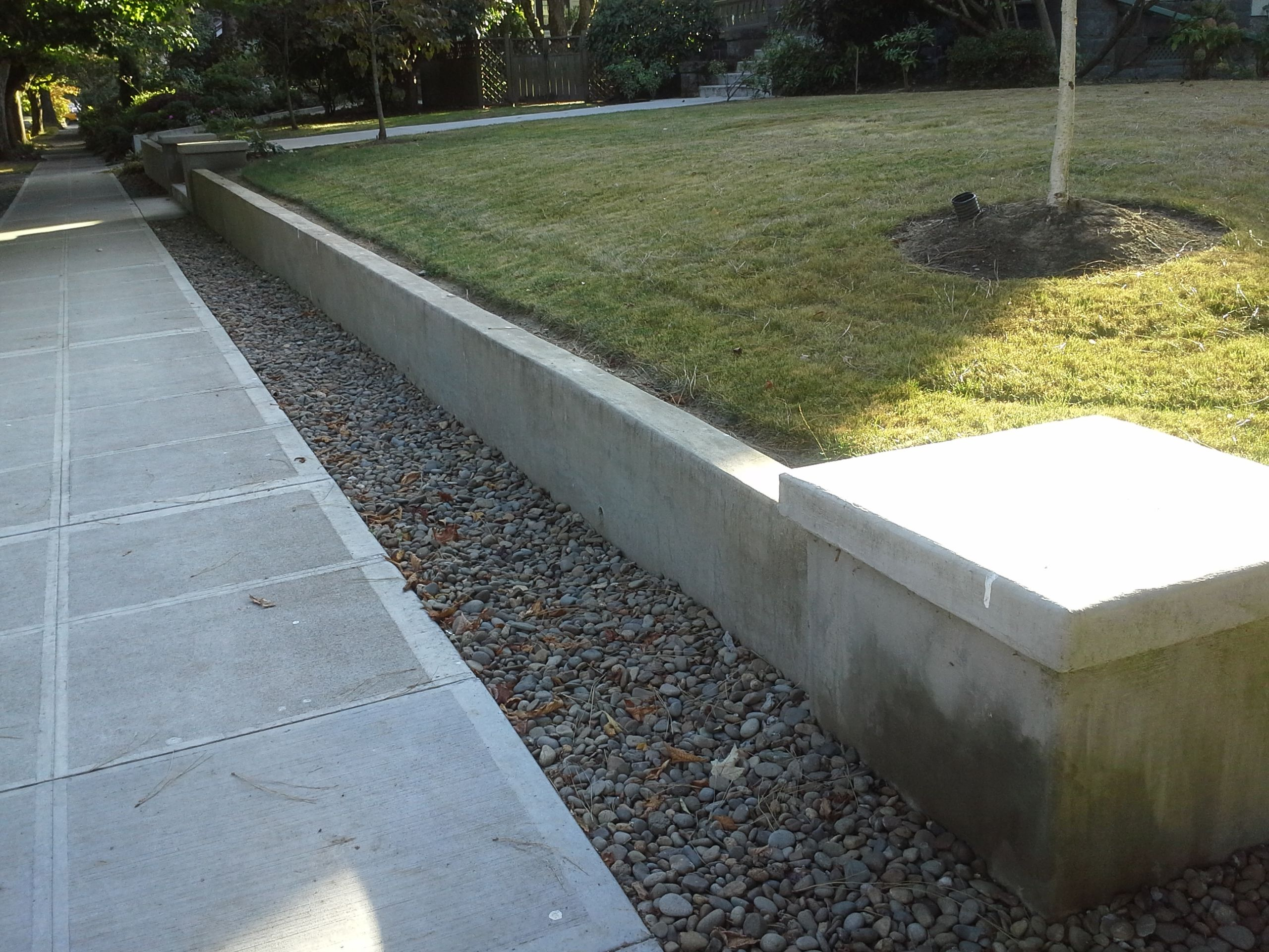 poured in place concrete retaining wall | Outdoor Decor in